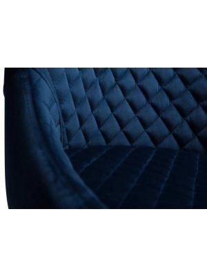 Dan-Form Vetro Velvet Stoel - Blauw Fluweel - Naturel Houten Poten