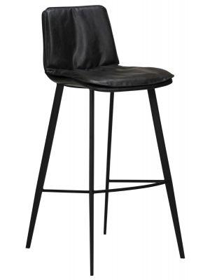 Dan-Form Fierce Barkruk - Zithoogte 75 cm - Set van 2 - Zwart Vintage Kunstleer