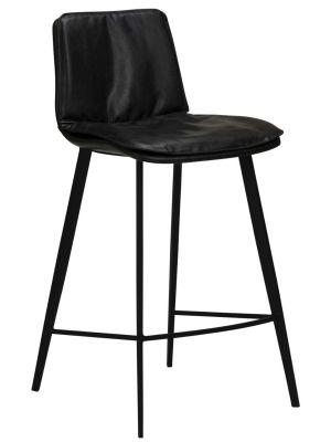 Dan-Form Fierce Counter Barkruk - Zithoogte 65 cm - Set van 2 - Zwart Kunstleer