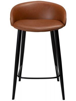 Dan-Form Dual Counter Barkruk – Zithoogte 65 cm - Set van 2 - Cognac Kunstleer