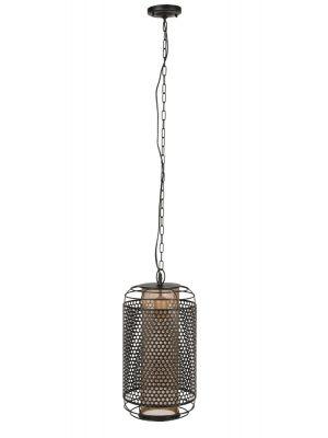 Dutchbone Archer Hanglamp M - Ø25,5xH200 cm - Messing en Zwart Metaal