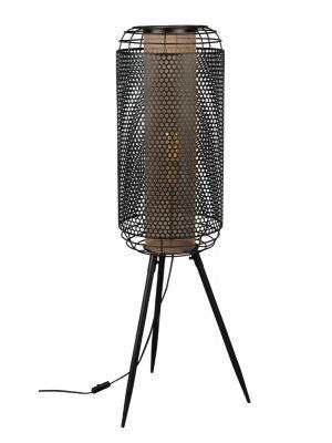 Dutchbone Archer Vloerlamp XL - B37,5xD35xH111 cm - Messing en Zwart Metaal