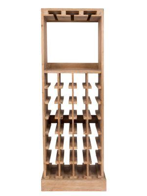 Dutchbone Claude Wijnkast - B43,5xD31,5xH118,5 cm - Massief Hout