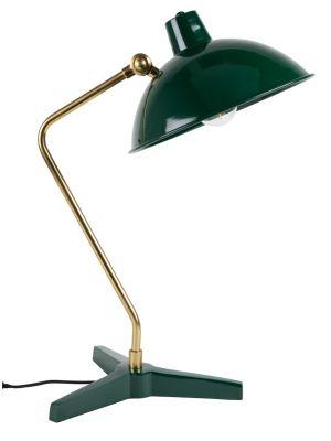 Dutchbone Devi Wandlamp - B29xD70xH49 cm - Groen met Messing