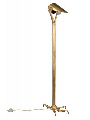 Dutchbone Falcon Vloerlamp - B27xD39,5xH137 cm - Messing Metaal/Aluminium