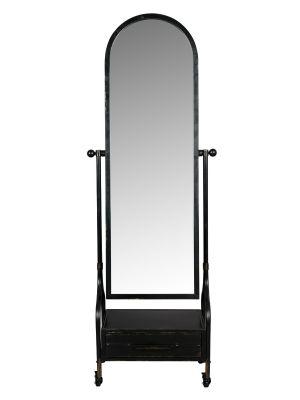 Dutchbone Gubo Spiegel - B63xD38xH184 cm - Zwart Metaal