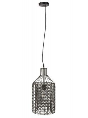 Dutchbone Jim Hanglamp Tall - Ø25xH170 cm - Zwart met Verzinkt Metaal