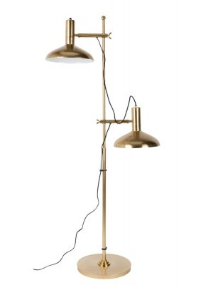 Dutchbone Karish Vloerlamp - B69xD36xH163 cm - Messing Metaal