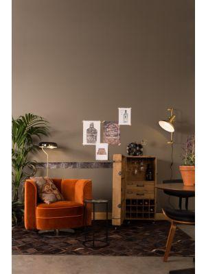 Dutchbone Karish Wandlamp - B28,5xD40,5xH61 cm - Messing Metaal