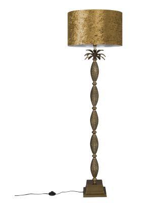 Dutchbone Piña Vloerlamp - B50 X D50 x H170 cm - Goudkleurig