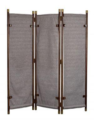 Dutchbone Riva Roomdivider - B133xD26xH180,5 cm - Donkerbruin Hout