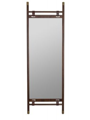 Dutchbone Riva Spiegel - B59,5xD3,5xH180 cm - Donkerbruin Hout