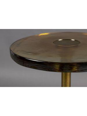 Dutchbone Sue Bijzettafel - B28 x H54 cm - Glas - Messing