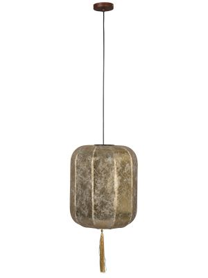 Dutchbone Suoni Hanglamp L - Ø40xH185 cm - Gouden Lampenkap