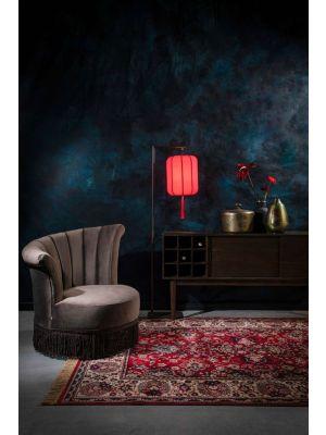 Dutchbone Suoni Vloerlamp - B30xD32xH157 cm - Rode Lampenkap