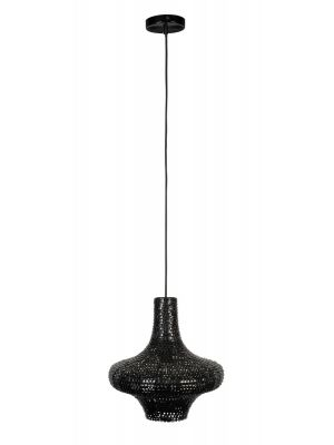 Dutchbone Trooper Hanglamp Medium - Ø35xH170 cm - Zwart Metaal