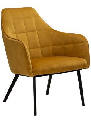 Dan-Form Embrace Lounge Fauteuil - Brons Fluweel - Zwart Metalen Poten