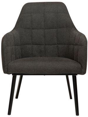 Dan-Form Embrace Lounge Fauteuil - Stof Antraciet Grijs - Zwart Metalen Poten
