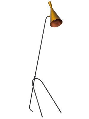 ETH Vloerlamp Lean - H170 cm - Zwart - Goudkleurig