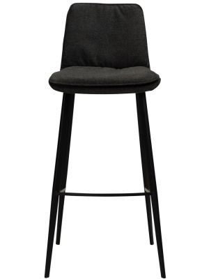 Dan-Form Fierce Barkruk - Zithoogte 75 cm - Set van 2 - Stof Antraciet Grijs