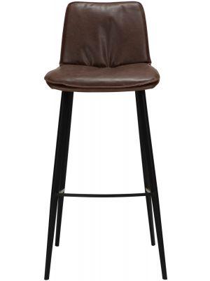 Dan-Form Fierce Barkruk - Zithoogte 75 cm - Set van 2 - Chocoladebruin Kunstleer
