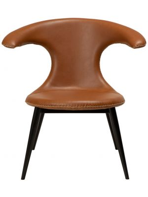 Dan-Form Flair Lounge Fauteuil – Cognac Kunstleer – Zwart Metalen Poten
