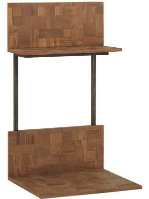 24Designs Reverie Hangende Tafel - B70 x D60 x H120 cm - Teakhout - Vintage Metaal