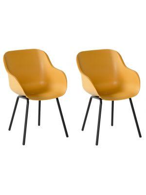 Hartman Sophie Rondo Elegance Chair - Set van 2 Tuinstoelen - Curry Yellow