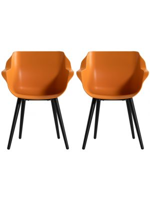 Hartman Sophie Studio Dining Tuinstoel - Set van 2 - Met Armleuning - Indian Orange
