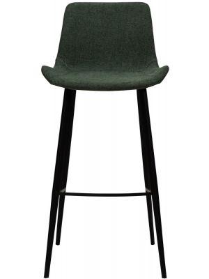 Dan-Form Hype Barkruk - Zithoogte 75 cm - Stof Groen - Zwart Metalen Poten