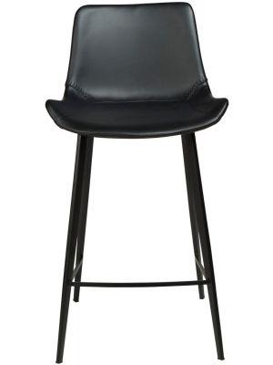 Dan-Form Hype Counter Barkruk - Set van 2 - Zithoogte 65 cm - Zwart Kunstleer