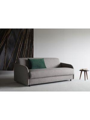 Innovation Slaapbank Eivor 160 SPRING - Stof Mixed Dance Grey 521 - Zwart Houten Poten