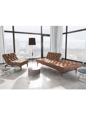 Slaapbank Sofa Oldschool Vintage Bruin 461