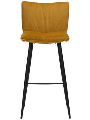 Dan-Form Join Barkruk - Set van 2 - Zithoogte 77 cm - Brons Fluweel