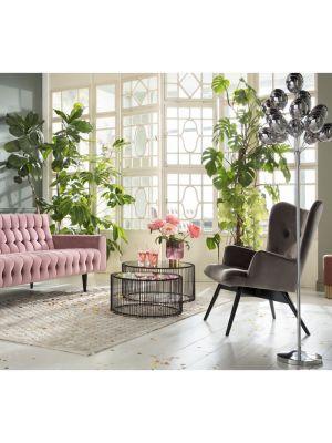 Kare Design - Wire Salontafel - Set van 2 - Koper met Glazen Tafelblad