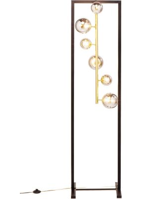 Kare Design Balloon Cube Vloerlamp 6-Lichts - Hoogte 160 cm - Mat Zwart Metaal