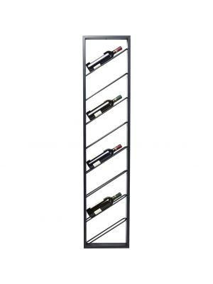 Kare Design Bistro Hangend Wijnrek - B36 x D6 x H160 cm - Zwart Metaal