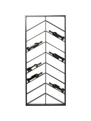 Kare Design Bistro Double Wijnrek - B70 x D6 x H160 cm - Zwart Metaal
