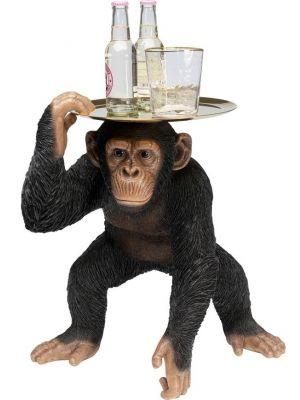 Kare Design Chimpansee Bijzettafel - B44,5 x D36,5 x H52 cm - Zwart