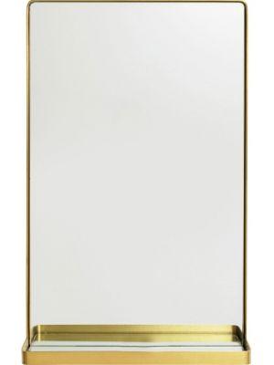 Kare Design Curve Spiegel Rechthoekig - B50 x H80 cm - Goudkleurig