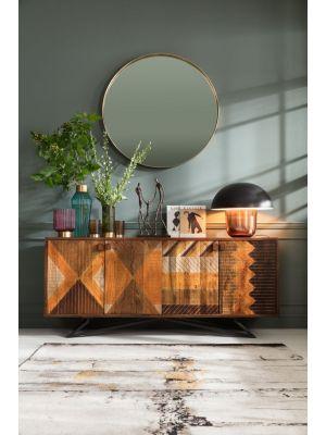 Kare Design Curve Spiegel Rond - Ø100cm - Messing