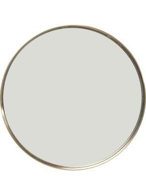 Kare Design Curve Spiegel Rond - Ø60cm - Messing