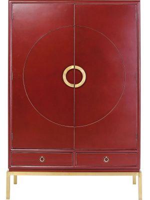 Kare Design Disk Red Kledingkast - B120 x D55 x H180 cm - Rood