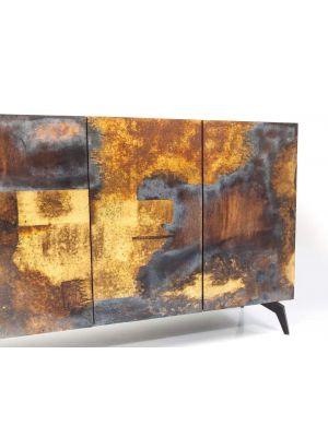 Kare Design Oxy Dressoir - B150 x D41 x H80 cm - Mangohout en Metaal