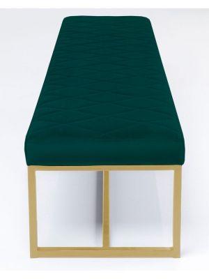 Kare Design Smart Dark Green Eetbank - B150 x D40 x H40 cm - Groen