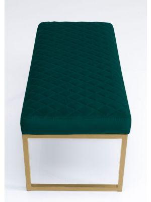 Kare Design Smart Dark Green Eetbank - B90 x D40 x H40 cm - Groen
