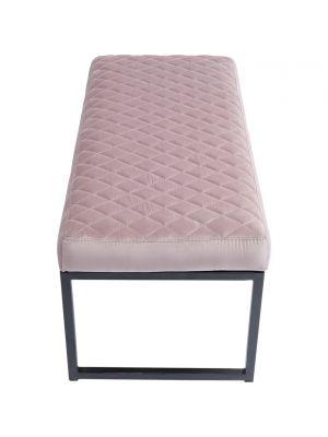 Kare Design Smart Rose Velvet Eetbank - B90 x D40 x H40 cm - Roze