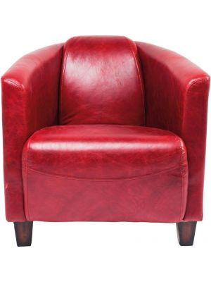 Kare Design SALE - Cigar Lounge Fauteuil - Leer Rood