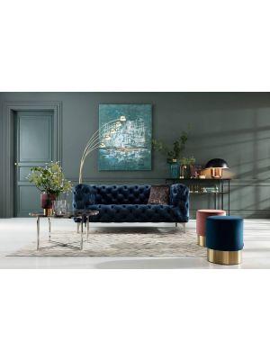 Kare Design Five Fingers Vloerlamp - Hoogte 215 cm - Messing met Zwart Marmeren Voet