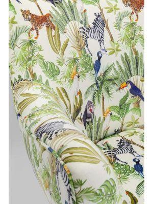 Kare Design Goldfinger Tropical Fauteuil Jungleprint - B89 x D80 x H85 cm